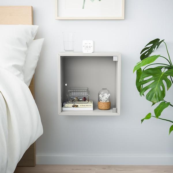 EKET Faliszekrény+üvegajtó, világosszürke, 35x25x35 cm