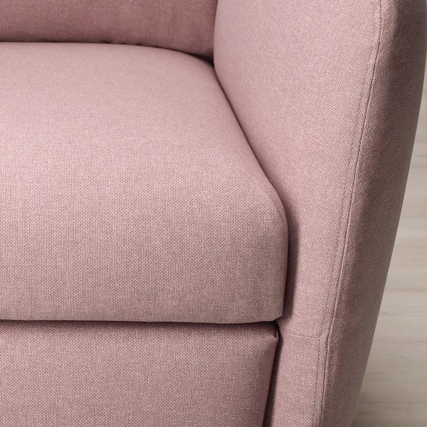 EKOLSUND Fekvőfotel, Gunnared világosbarna-rózsaszín