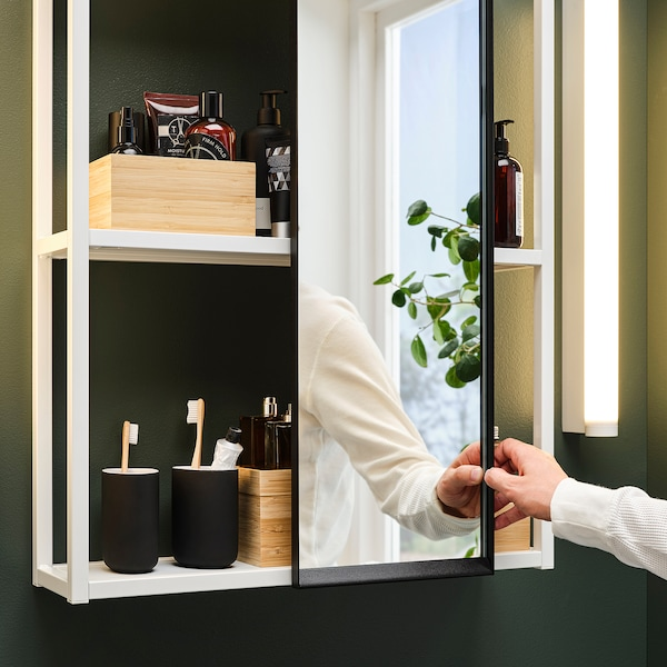 ENHET Akasztós tükör vázhoz, antracit, 25x4.5x75 cm