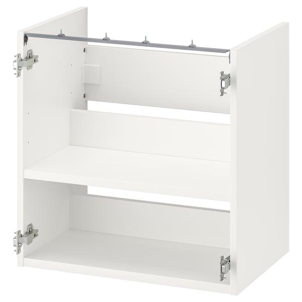 ENHET Alsószekrény mosdóhoz polccal, fehér, 60x40x60 cm