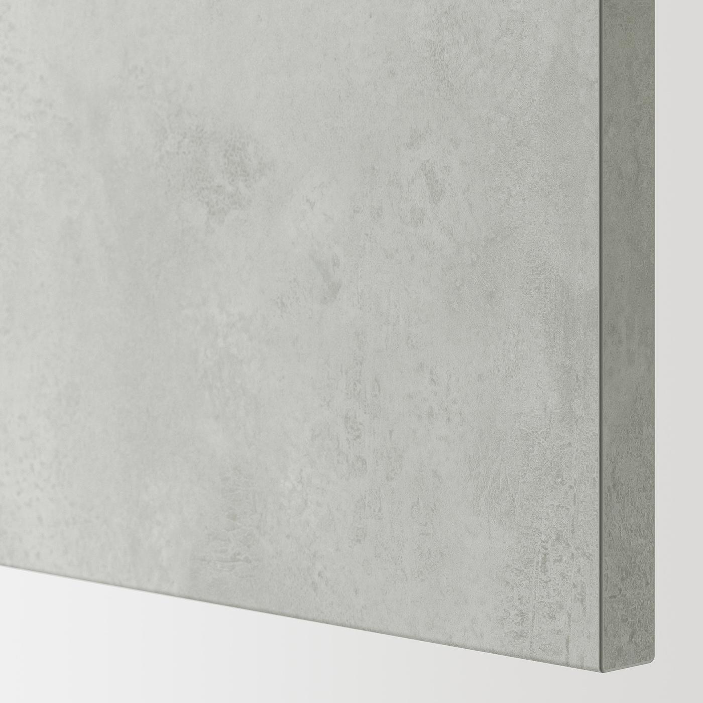 ENHET Magasszekrény 4 polccal/ajtóval, szürke/beton hatású, 30x32x180 cm