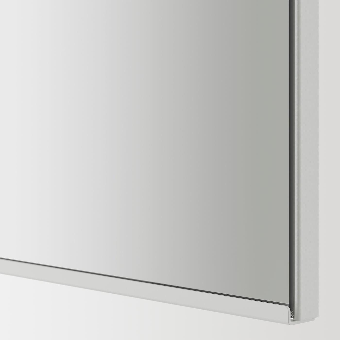 ENHET Tükrös szekrény 2 ajtóval, szürke, 60x17x75 cm
