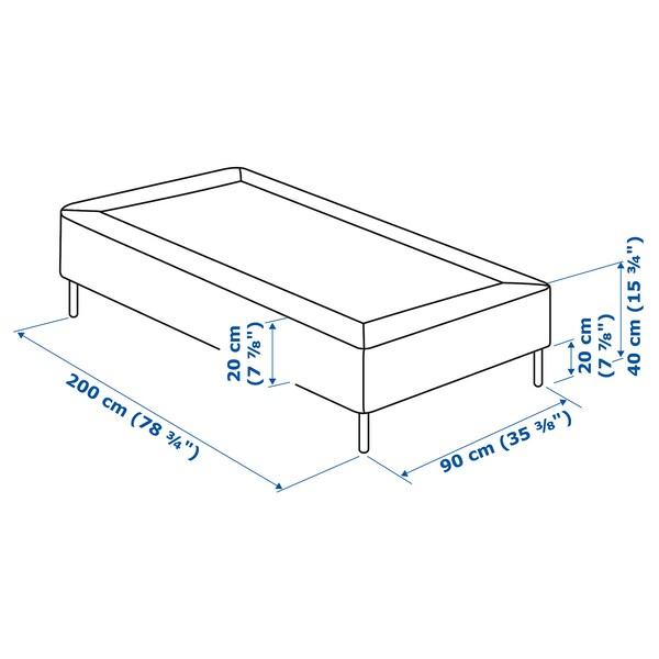 ESPEVÄR Rácsos ágyalap lábbal, fehér, 90x200 cm