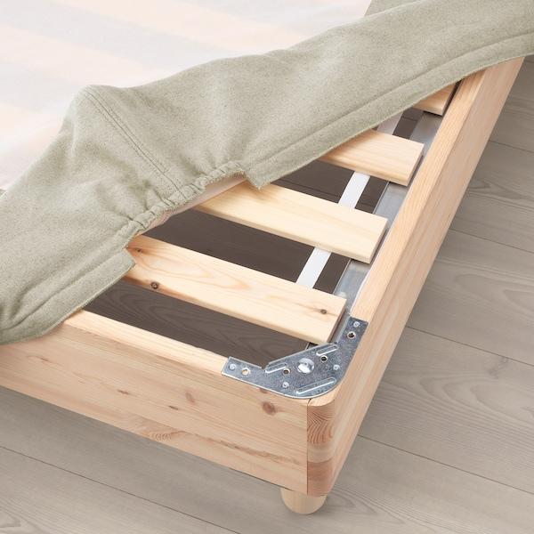 ESPEVÄR Rácsos ágyalap lábbal, natúr, 90x200 cm