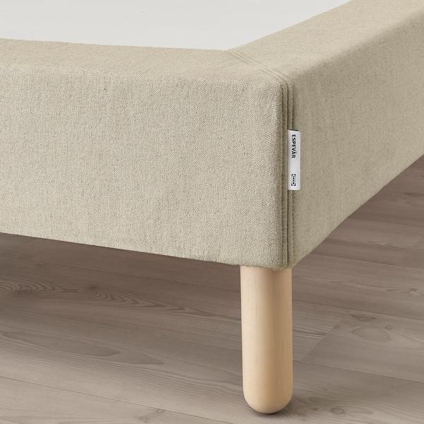 ESPEVÄR Rugós ágyalap lábakkal, natúr, 90x200 cm