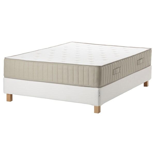 ESPEVÄR/VATNESTRÖM Dívány, fehér/extra kemény natúr, 140x200 cm