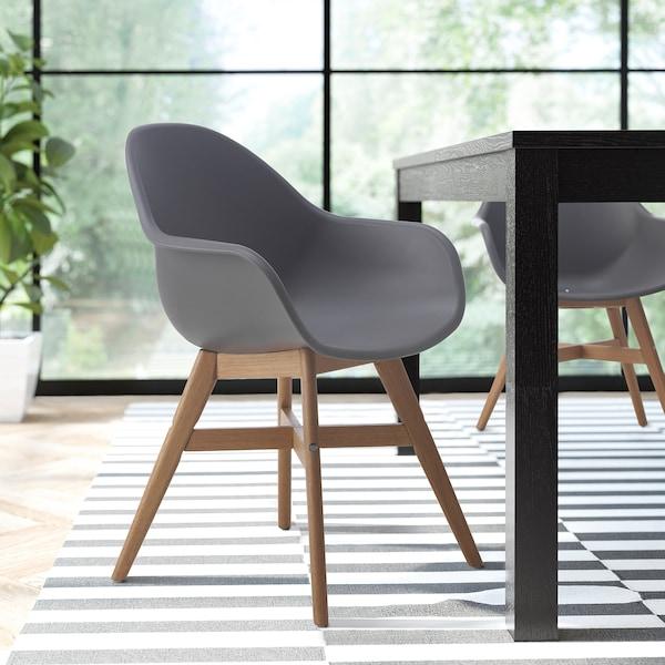 FANBYN karfás szék szürke 110 kg 58 cm 61 cm 84 cm 49 cm 41 cm 46 cm