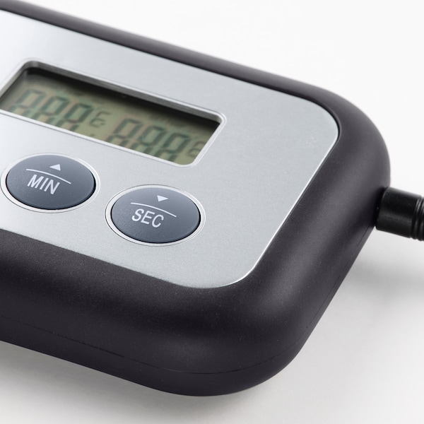 FANTAST Húshőmérő+időzítő, digitális fekete