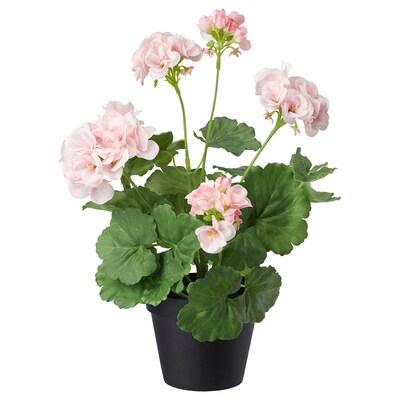 FEJKA Cserepes műnövény, bel/kültér/muskátli rózsaszín, 12 cm