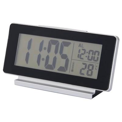 FILMIS Óra/hőmérő/ébresztőóra, fekete