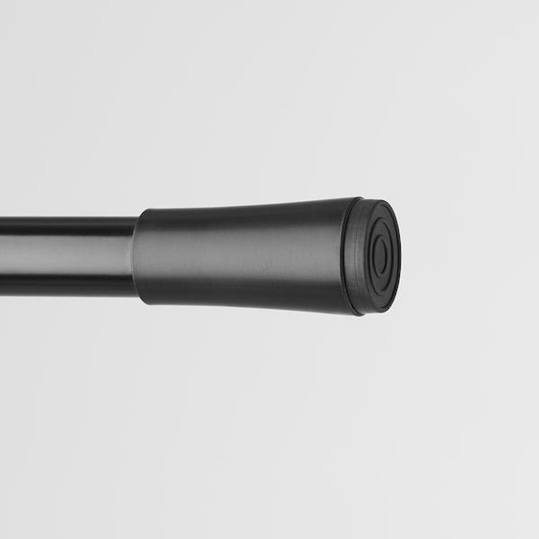 FJÄDRANDE Függönyrúd, fekete, 70-120 cm
