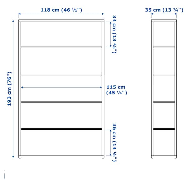 FJÄLKINGE Polcos elem, fehér, 118x193 cm