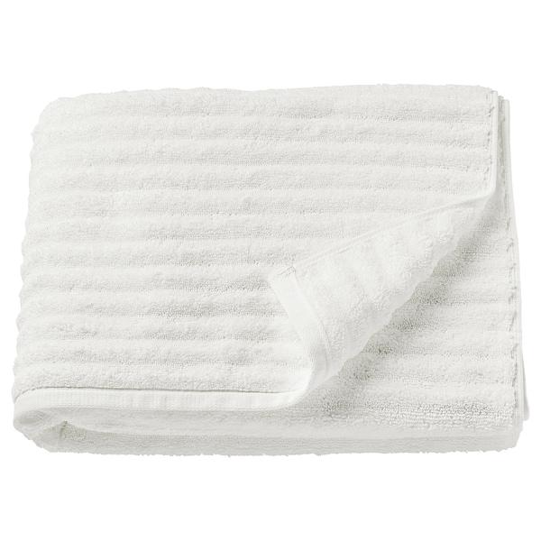 FLODALEN Fürdőlepedő, fehér, 70x140 cm