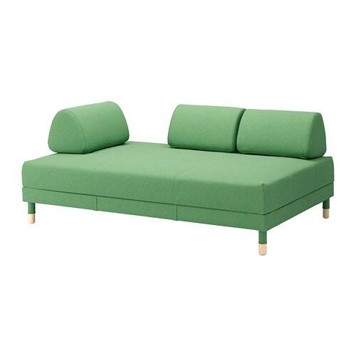 FLOTTEBO kanapéágy asztallal, lysed zöld