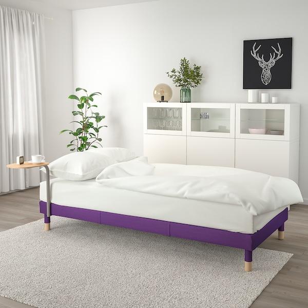 FLOTTEBO kanapéágy kisasztallal Vissle lila 79 cm 200 cm 90 cm 62 cm 46 cm 90 cm 200 cm