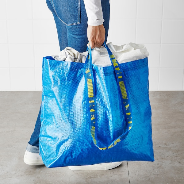 FRAKTA Bevásárlótáska, közepes, kék, 36 l