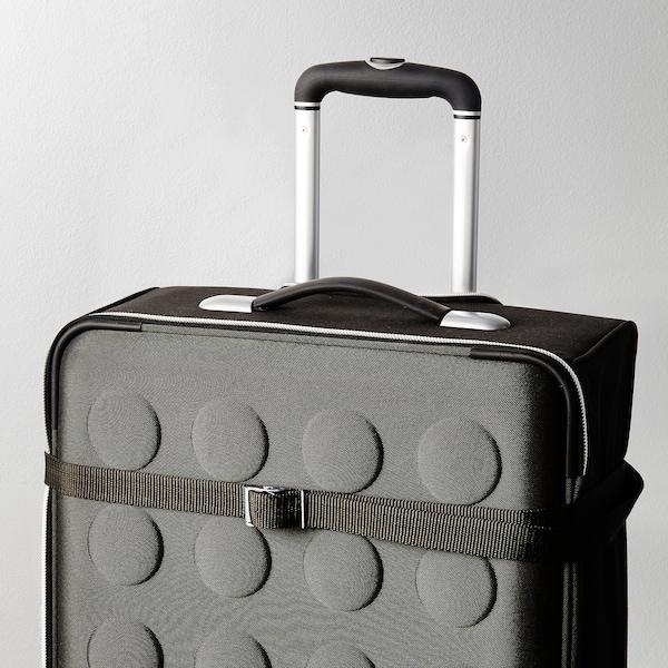 FRAKTA Bőrönd heveder, fekete, 3.5 m 2 darab