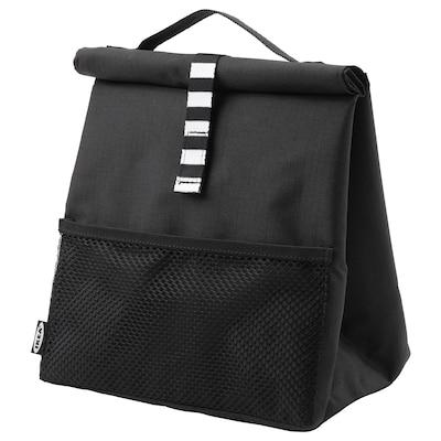FRAMTUNG Uzsonnás táska, fekete, 22x17x35 cm