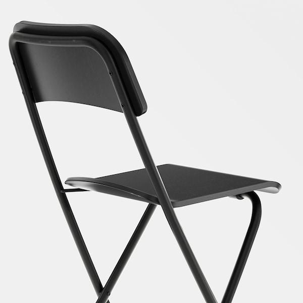 FRANKLIN Támlás bárszék,összecsukható, fekete/fekete, 63 cm