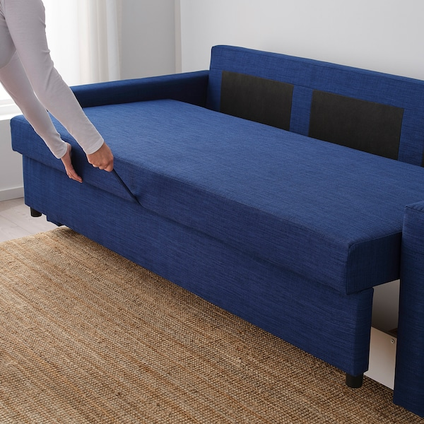 FRIHETEN 3 személyes kinyitható kanapé Skiftebo kék 225 cm 105 cm 83 cm 61 cm 46 cm 144 cm 199 cm