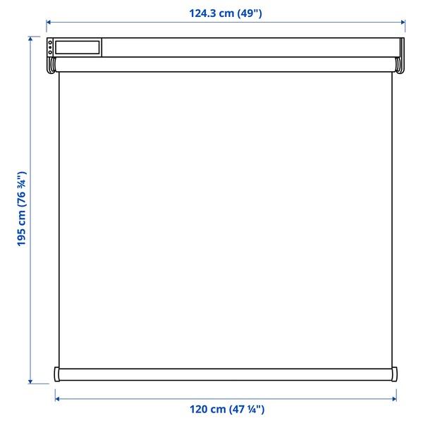 FYRTUR Sötétítő roló, vezeték nélküli/elemes szürke, 120x195 cm