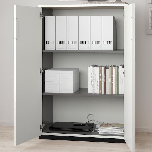 GALANT Szekrény+ajtók, fehér, 80x120 cm