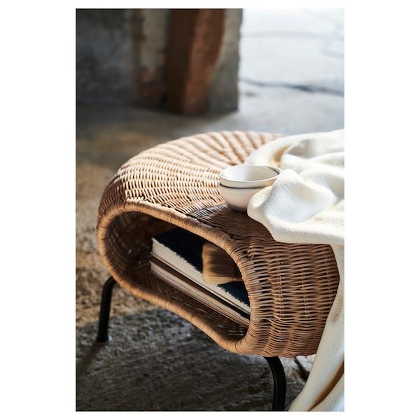 GAMLEHULT lábtartó+tároló rattan/antracit 36 cm 62 cm 14 cm