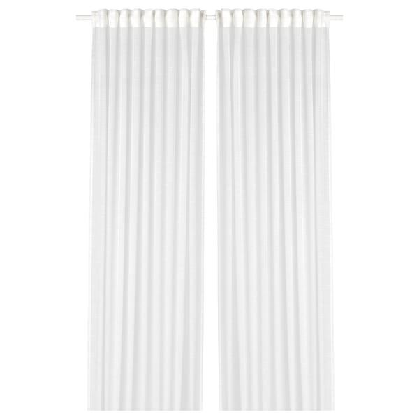 GJERTRUD Áttetsző függöny 1 pár, fehér, 145x300 cm