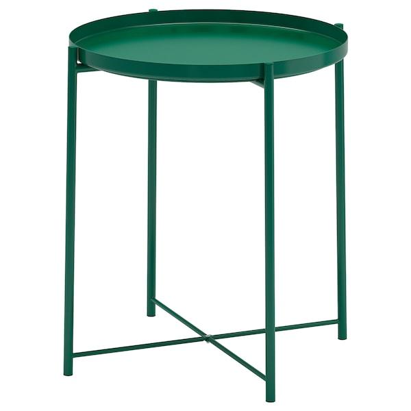 GLADOM Tálca-asztal, zöld, 45x53 cm