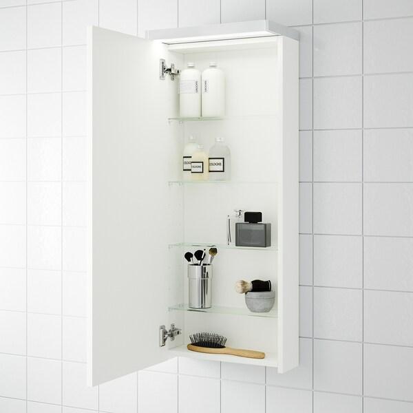 GODMORGON Faliszekrény 1 ajtóval, fehér, 40x14x96 cm