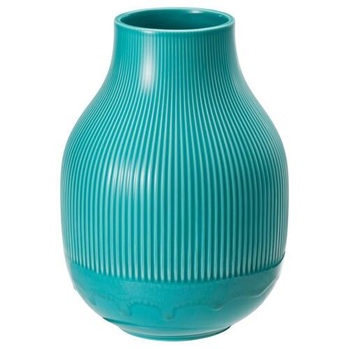 GRADVIS váza türkiz 22 cm
