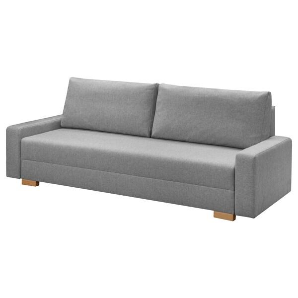 GRÄLVIKEN 3 személyes kinyitható kanapé szürke 225 cm 86 cm 74 cm 48 cm 43 cm 140 cm 195 cm