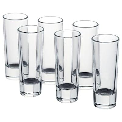 GRÅSEJ Pálinkáspohár készlet, átlátszó üveg, 5 cl