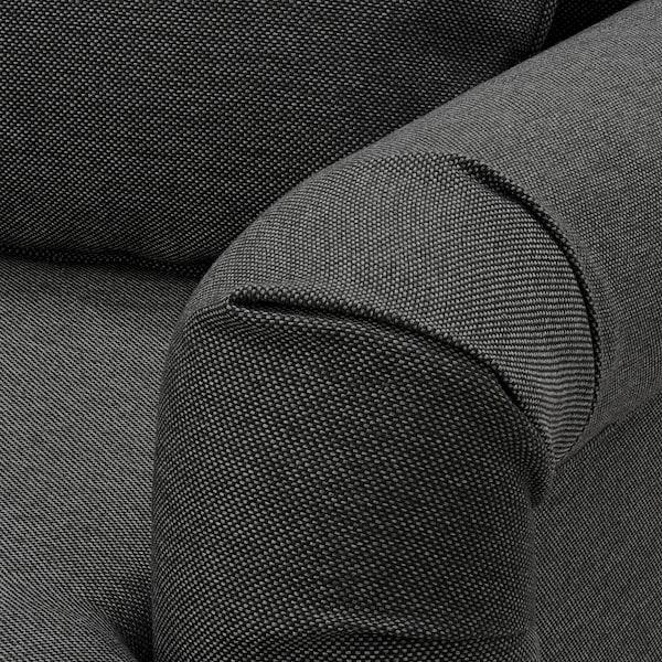 GRIMHULT 3 személyes kinyitható kanapé, szürke
