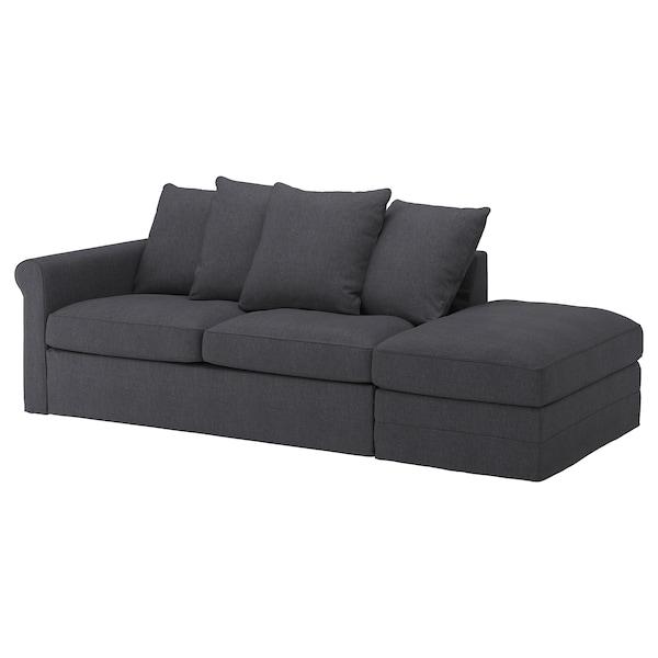 GRÖNLID 3 sz kanapéágy huzat, nyitott véggel/Sporda sszürke