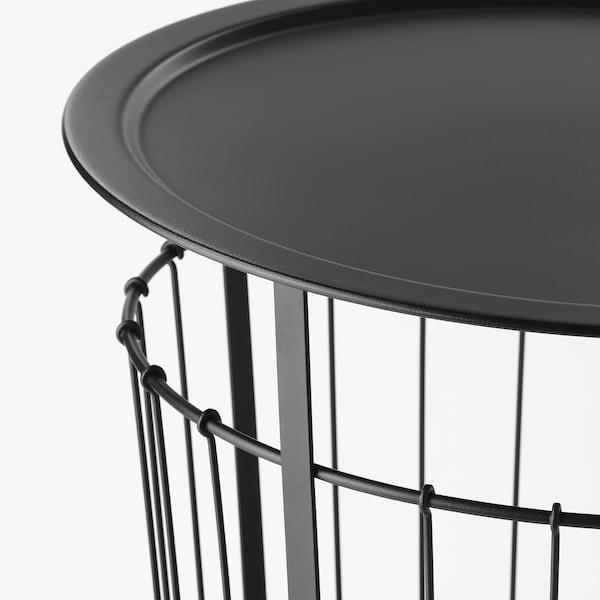 GUALÖV tárolóasztal fekete 47 cm 60 cm