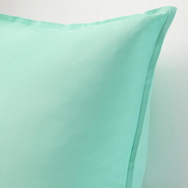 GURLI Díszpárnahuzat, világostürkiz-zöld, 50x50 cm