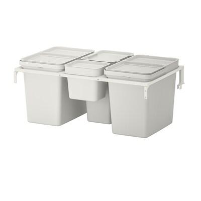 HÅLLBAR szelektív hulladékgyűjtő METOD konyhai fiókhoz/világosszürke 55 l
