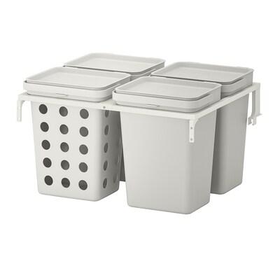 HÅLLBAR szelektív hulladékgyűjtő METOD konyhai fiókhoz ventillált/világosszürke 40 l