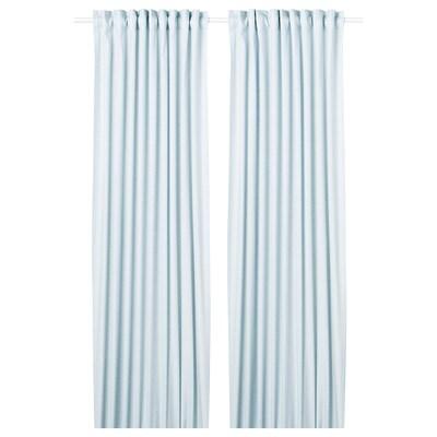 HANNALILL függönypár kék 300 cm 145 cm 1.20 kg 4.35 m² 2 darabos
