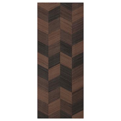 HASSLARP Ajtó, barna mintázott, 40x100 cm