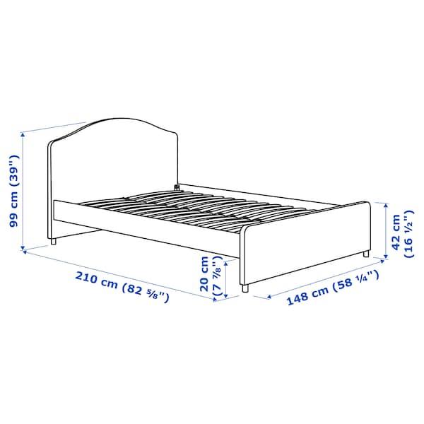 HAUGA Kárpitozott ágykeret, Vissle szürke, 140x200 cm