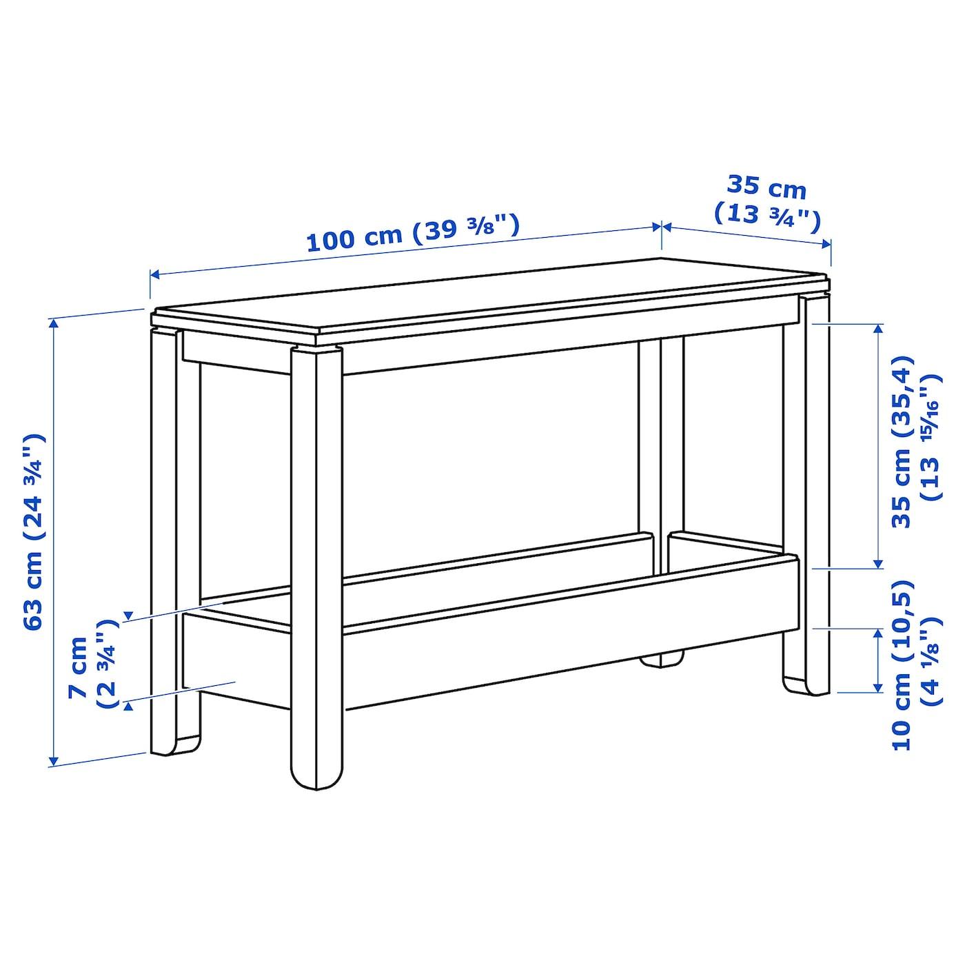 HAVSTA Rakodóasztal, sötétbarna, 100x35x63 cm IKEA