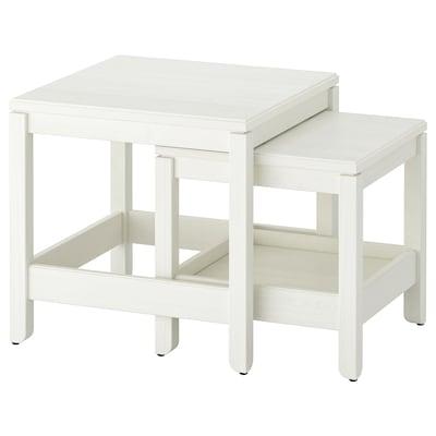 HAVSTA Egymásba rakh.asztal, 2 db, fehér