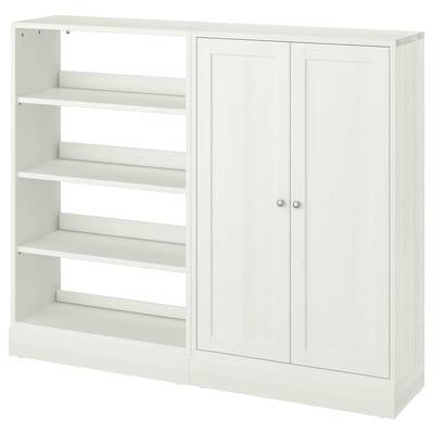 HAVSTA Tárolókombináció, fehér, 162x37x134 cm