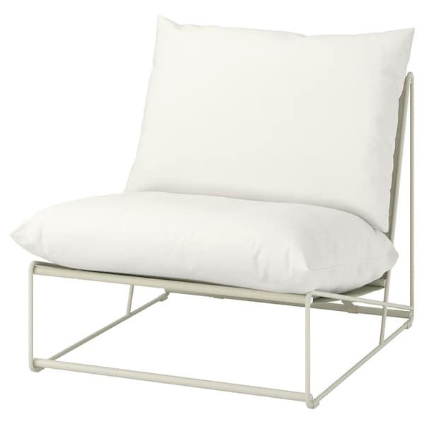 HAVSTEN Fotel bel/kül, bézs, 83x94x90 cm