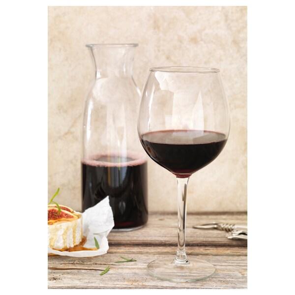 HEDERLIG vörösboros pohár átlátszó üveg 22 cm 59 cl