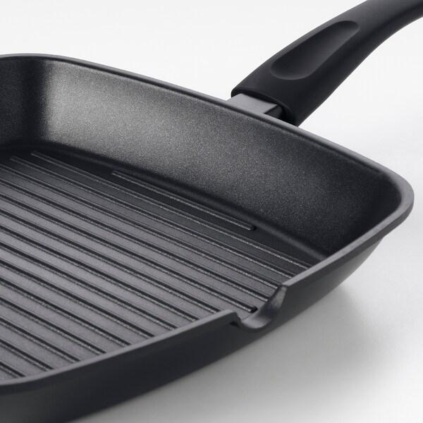 HEMLAGAD Grillserpenyő, fekete, 28x28 cm