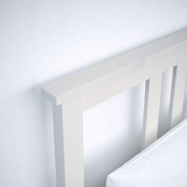 HEMNES Ágykeret 4 tárolódobozzal, fehérre pácolt/Lönset, 180x200 cm