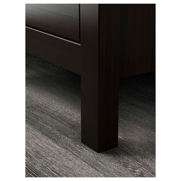 HEMNES 2-fiókos szekrény fekete-barna 54 cm 38 cm 66 cm 31 cm